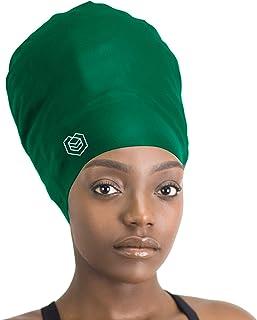 SM SunniMix Pack of Womens Pure Silk Sleeping Cap Bonnet for Long Hair Pink Blue