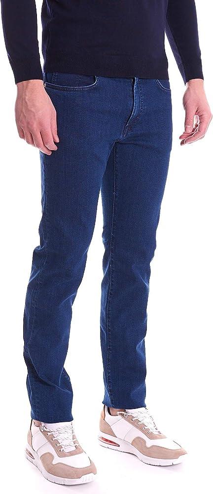 Trussardi jeans, jeans 380 icon blu scuro,elasticizzato,99% cotone, 1% elastan 52J00001-1T003652-U280-PE20-28
