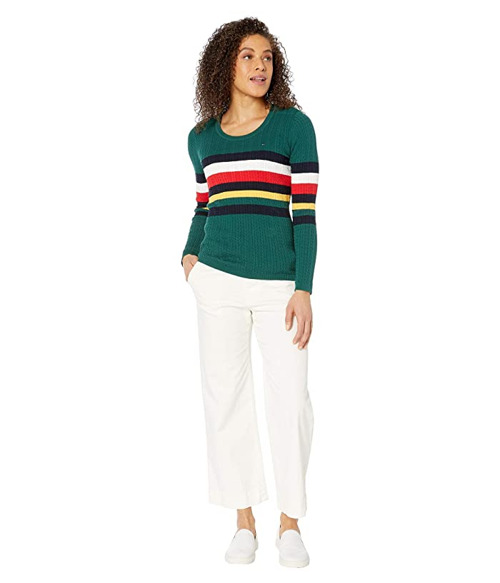 Tommy Hilfiger Adaptive  Sweater with VELCRO Brand Closure at Shoulders (Botantical Garden/Mutli) Womens Clothing