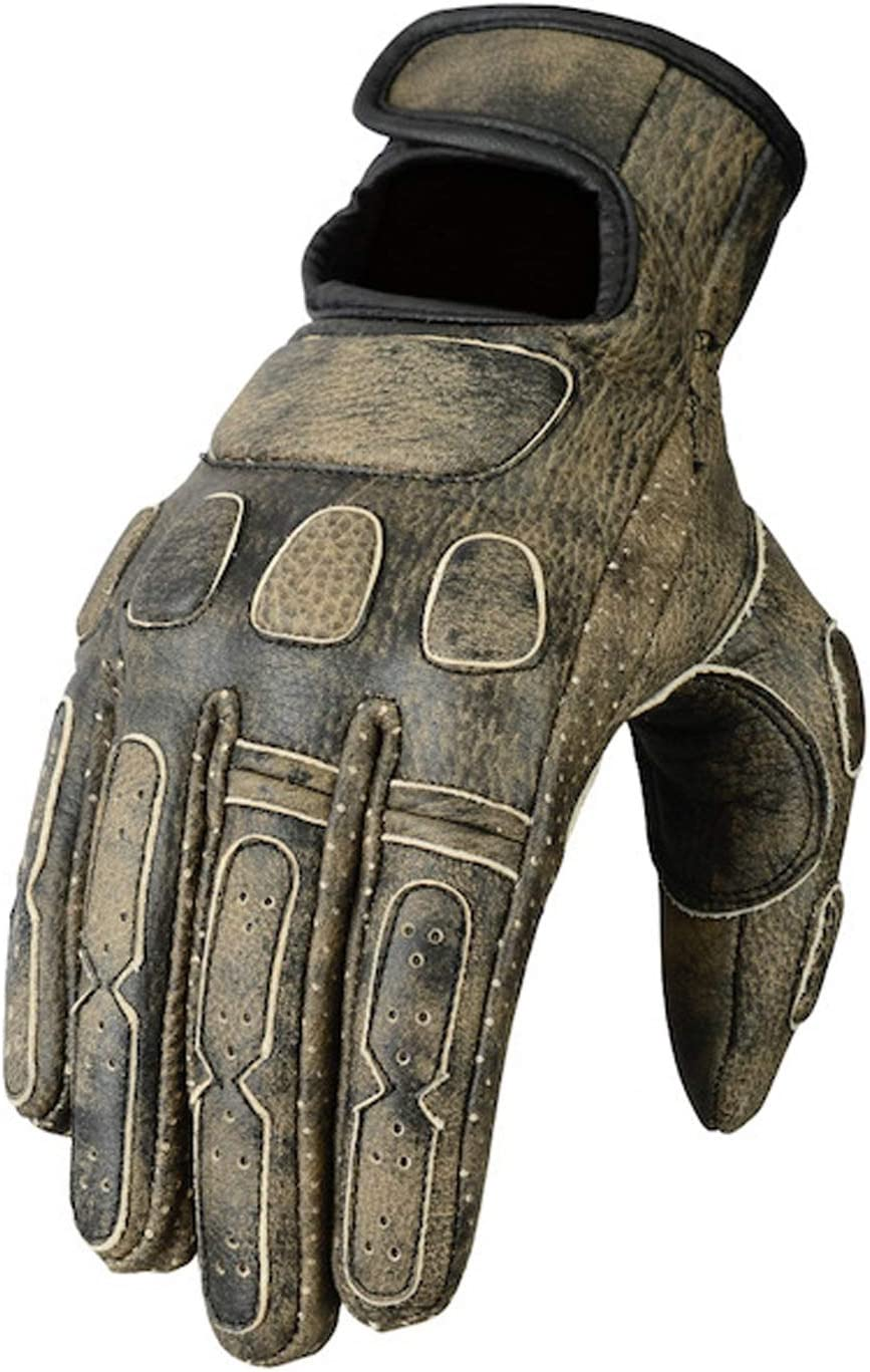 Bikers Gear Australia Leather Roadster Classic Motorcycle Gloves Black Size S Auto