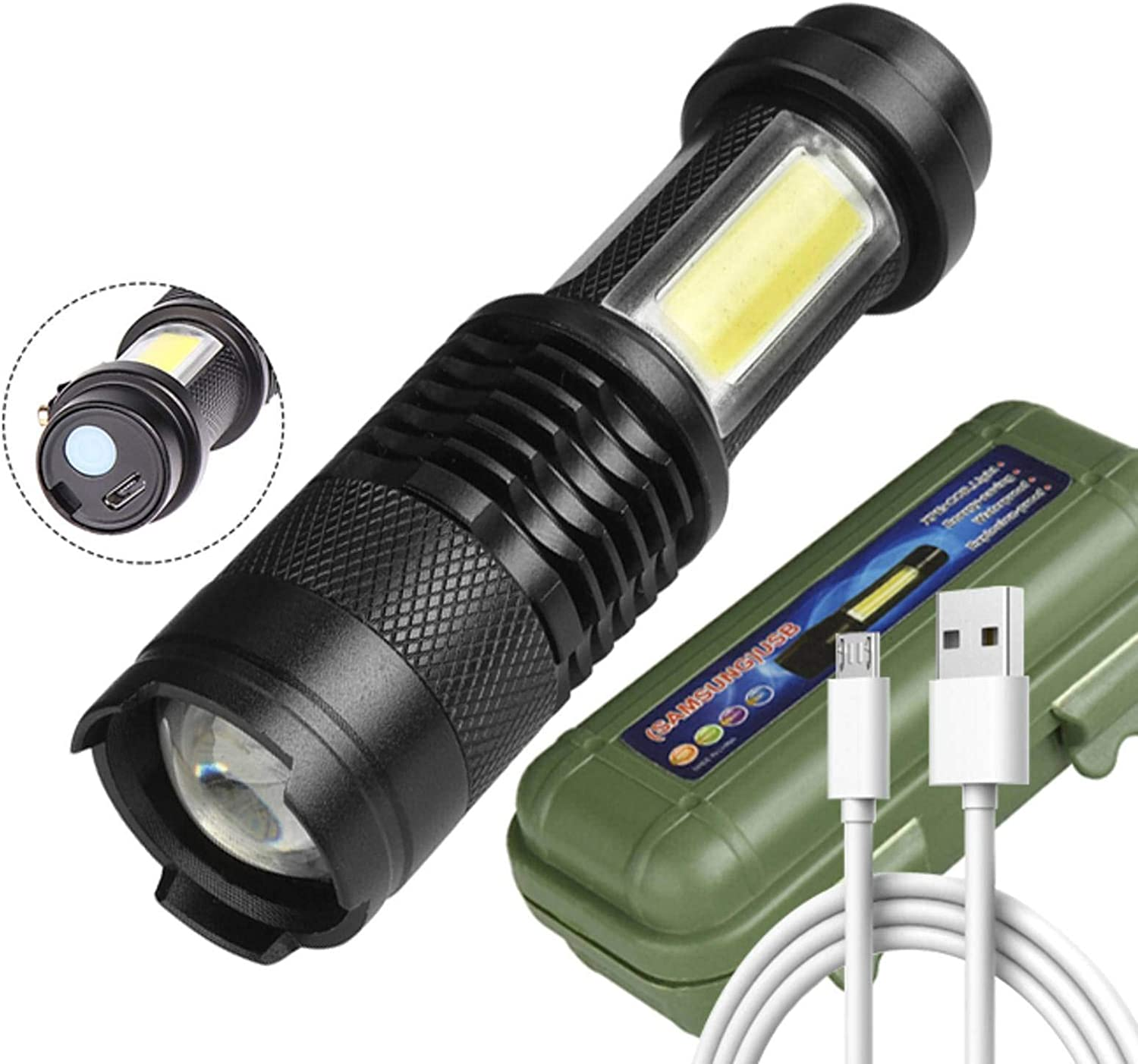 N\C Newest Design XP-G Q5 Built Charging Flashlig in Battery Los Angeles Mall Low price USB