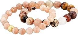 Power Of Love Moonstone Gemstone Beaded Bracelet Set