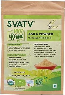SVATV Organic Amla Powder II Emblica officinalis, Amalaki II USDA Certified II 227g, 0.5lb, 8oz