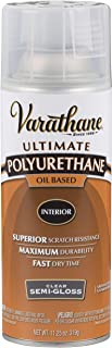 Rust-Oleum 6081 Varathane Ultimate Polyurethane Oil Based Spray, 11.25 oz, Semi-Gloss