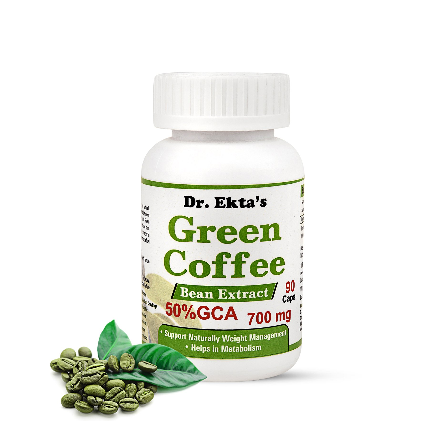 Dr Ekta S Green Coffee Bean Extract 700 Mg 50 Gca 90 Capsules