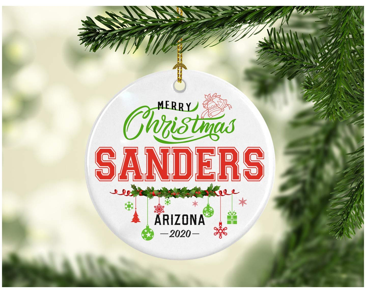 Arizona When Does Christmas Break Start 2020 Amazon.com: Christmas Decorations Tree Ornament   Gifts Hometown