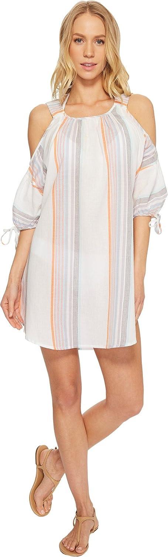 Echo Design Womens Sunset Stripe Cold Shoulder