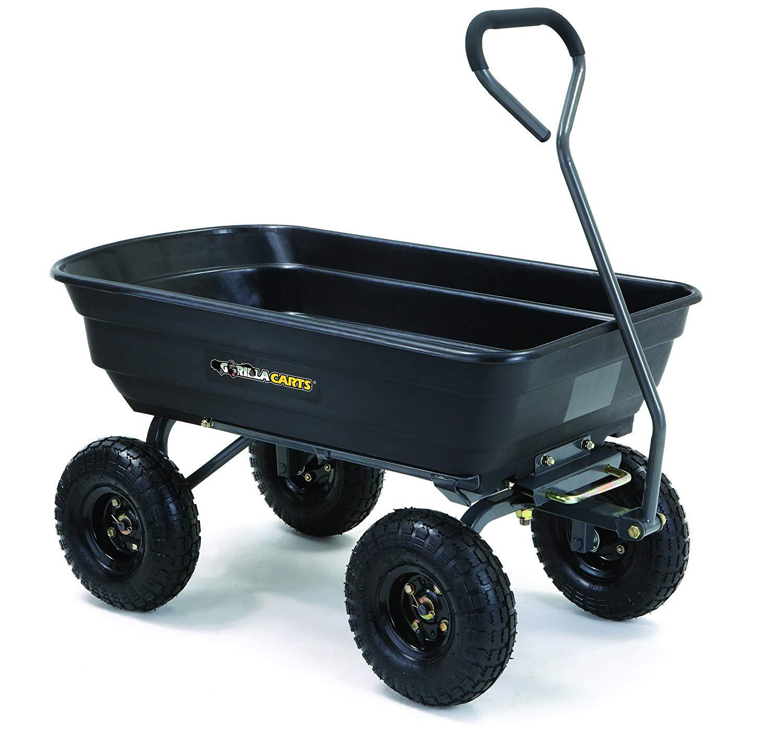 Gorilla Carts GOR4PS Pneumatic 600 Pound
