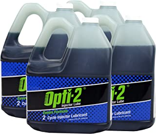 Opti-2 30044 4-Pack 1 Gallon Enviro Formula 2-Cycle Injector Lubricant