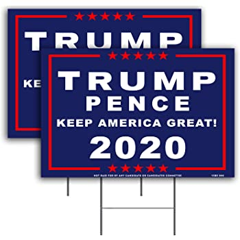 15 Trump 2020 Campaign Political Full Color Yard Signs  MAGA Keep America Great
