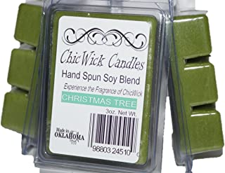 ChicWick Candles 3Pack Christmas Tree Soy Blend Wax Melts 9oz 18 Wax Cubes Wax Tarts Wax Chunks Pine Scent 100 Plus Hours of Quality Fragrance