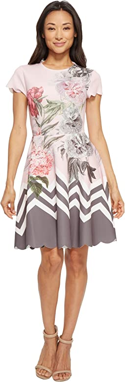 Haiilie Palace Gardens Ruffle Skater Dress