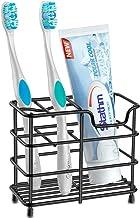 Stathm Toothbrush Holder - Stainless Steel Toothpaste Holder Bathroom Accessories Organizer (Small, Black)