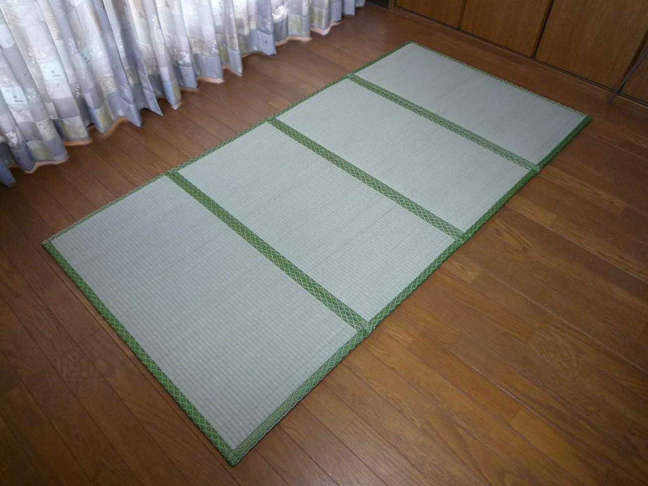 変化する葬儀キャンドルい草マットレス 寝ござ 敷パッド 95.5×191cm 折り畳み 4つ折り 置き畳