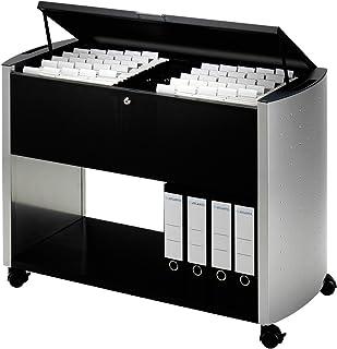 Durable 3080121 Design Line Desserte Mobile pour 100 Dossiers Suspendus Format Mixte - avec Couvercle de Confidentialité D...