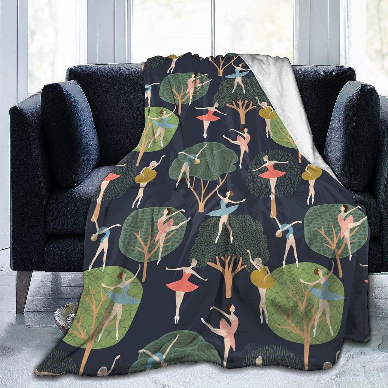 浸したサークルシアーバレエ 北欧 木 森林 毛布 掛け毛布 ブランケット シングル 暖かい柔らかい ふわふわ フランネル 毛布 三つのサイズ