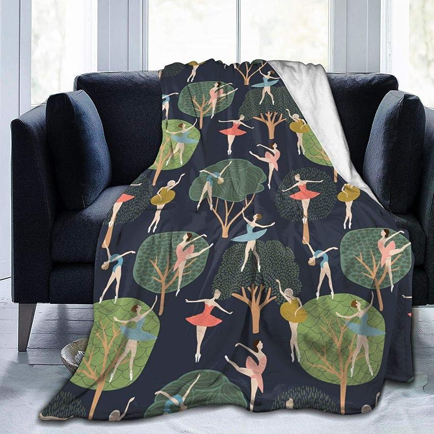 あいにく発生器バレエ 北欧 木 森林 毛布 掛け毛布 ブランケット シングル 暖かい柔らかい ふわふわ フランネル 毛布 三つのサイズ