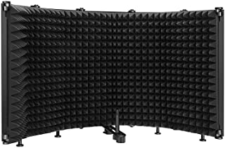 Microphone Isolation Shield,5 Panels Mic Acoustic...