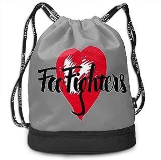 Foo Fighters フー ファイターズ ナップサック 巾着 かばん 折り畳み 防水 大容量 コンパクト 軽量 多機能 プールバッグ スポーツバック 旅行/アウトドア運動/部活用 男女兼用 かわいい