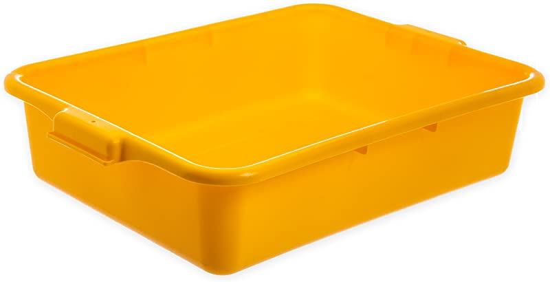 Carlisle N4401004 Comfort Curve Ergonomic Wash Basin Tote Box 5 Deep Yellow