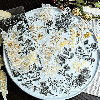 Aolvo Ephemera Lot (lot de 60), Tropical plantes Style Note Stickers simple Autocollant Fleurs roses de jardin Fleurs sauv...