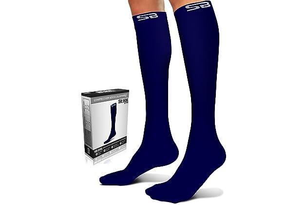 07354814b3a SB SOX Lite Compression Socks (15-20mmHg) for Men   Women - Premium  Lightweight Material - Best Stockings for Running