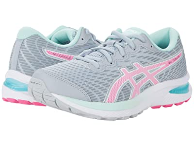 ASICS Kids GEL-Cumulus(r) 22 (Little Kid/Big Kid) (Piedmont Grey/Pink Glo) Girls Shoes
