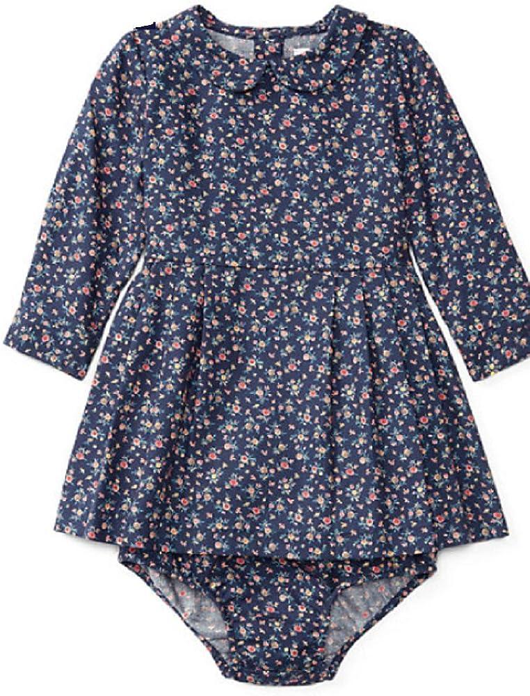 Ralph Lauren Baby Girls' Max 82% OFF Floral Dress Navy Twill Ranking TOP2 Pink Bloomer-