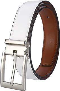 حزام رجالي من Lavemi 100% جلد البقر الإيطالي طول قابل للتعديل فستان أحزمة كاجوال للرجال، تقليم ملائم، مشبك قابل للفصل