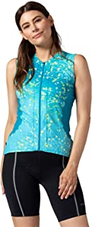Terry Bella Jersey - Women`s Sleeveless Jersey - Cycling and Outdoor Sports - Athletic Fit - UPF 50 + Sun Protection