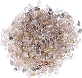 VORCOOL Rocas de Cristal trituradas Naturales Piedras de Forma Irregular Piedras caídas Piedras de Forma Irregular para jardín Paquete de 2