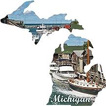 product image for Next Innovations Metal Wall Art Michigan State Shape Michigan Fishing