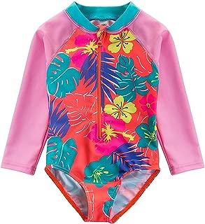 Baby Girl Sunsuit One-Piece Swimsuit Rash Guard Swimwear