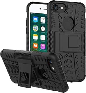 ALDHOFA iPhone SE 2020 Case,iPhone 8 Case,Heavy Duty Shock Proof Protective Phone Case,Dual Layer Hybrid Cover with Kickst...