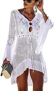 b181bfc2cfd6a Hibluco Women s Sheer Chiffon Floral Kimono Cardigan Long Blouse Loose Tops  Outwear