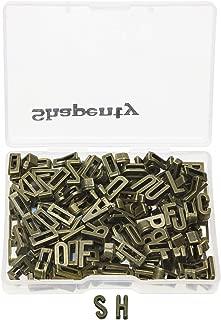 Shapenty Alloy Metal Plain A-Z Alphabet Slide Charm Letters for DIY Craft Bracelet Wristbands Necklace Choker Jewelry Making Finding, 5pcs of Each Letter, Antique Bronze, 130PCS