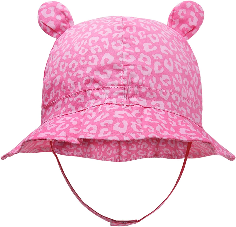 Brimmed Sun Hat Pink Baby Sun Hat Bucket Hat Pink Girl Hat Summer Baby Gift Girl Girls Summer Hat Floral Baby Hat Beach Baby Gift