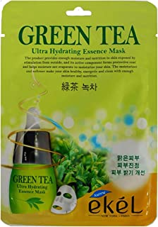 eKel Ultra Hydrating Essence Mask - GREEN TEA - (25ml)- 3 PCS