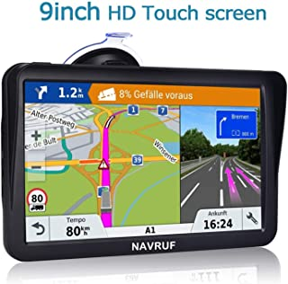 Car GPS Navigation, 9-inch Touchscreen Built-in 8BG &128MB, Voice Steering Navigation System,No Need to Insert a Card, GPS Navigation System with Lifetime Free Map
