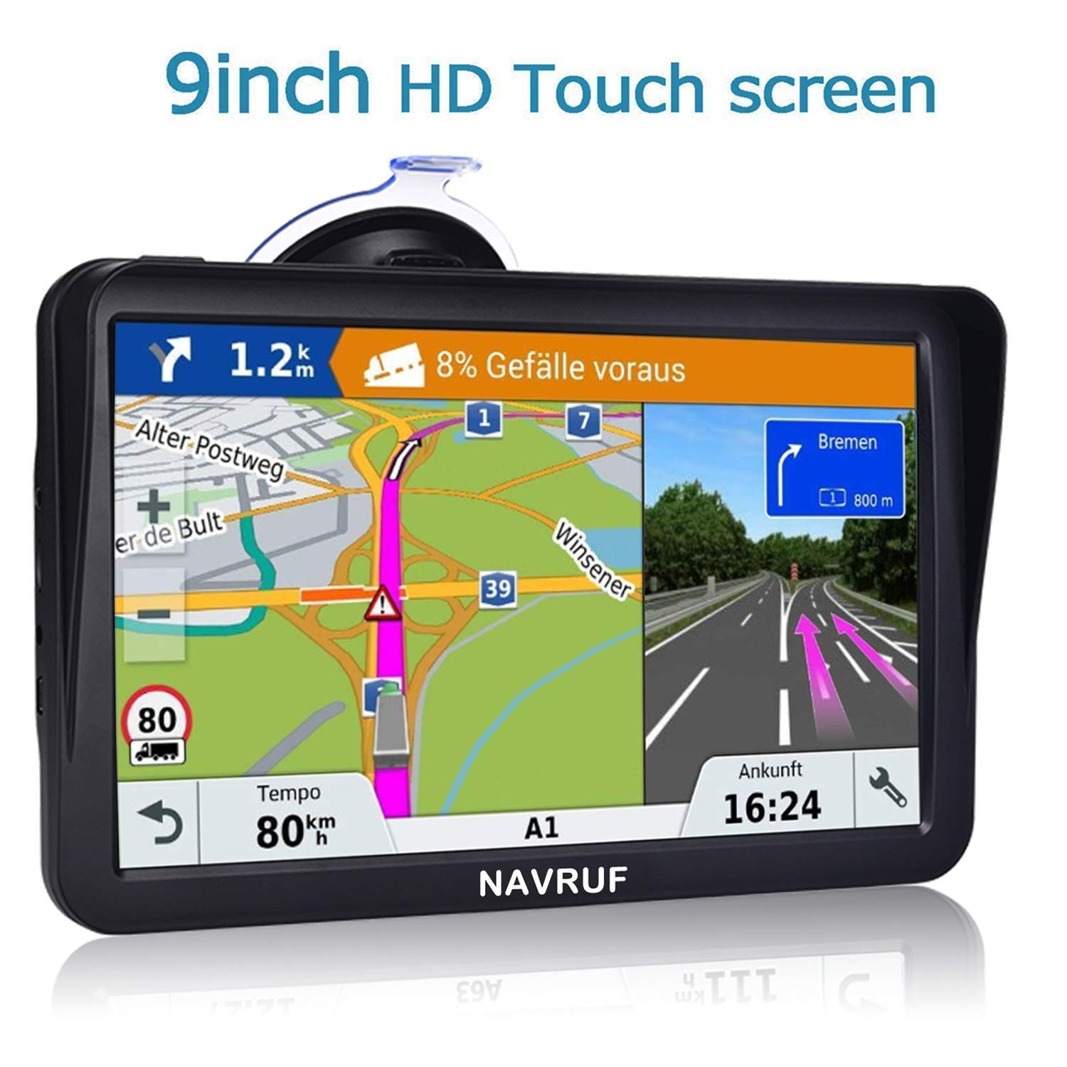 Navigation 9 inch Touchscreen Steering Lifetime