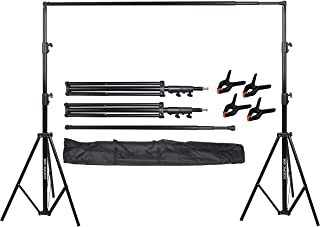 COOPIC S06 2.8 X 3.2 meters Heavy Duty Adjustable Backdrop Support System Photography Studio Video Stand With 4 Pcs Backgr...