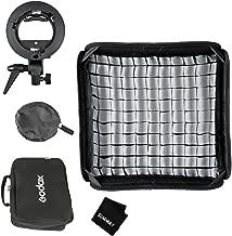 SUMMAY Godox 60x60cm/24x24inch Foldable Grid Softbox + S-Type Bracket Bowens Mount Holder for Studio Photography