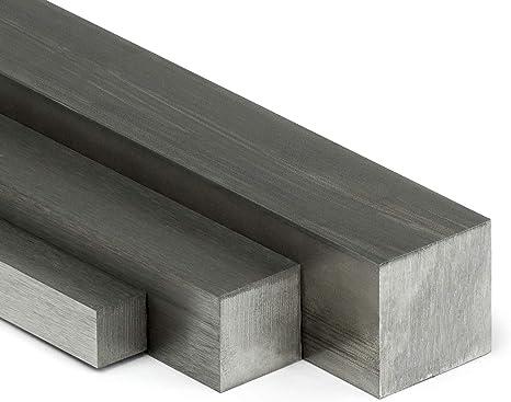 Edelstahl Vierkant VA V2A blank h11-4x4mm auf Zuschnitt L: 750mm 75cm