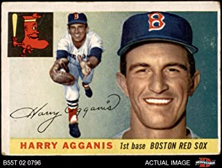 1955 Topps # 152 Harry Agganis Boston Red Sox (Baseball Card) Dean's Cards 3 - VG Red Sox
