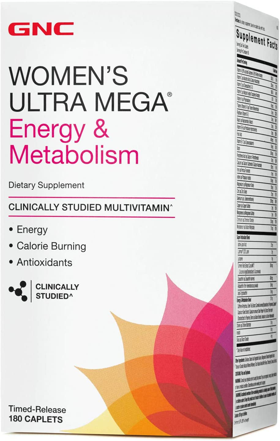 GNC Womens Ultra excellence Mega Energy Branded goods Metabolism Wom for Multivitamin and