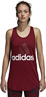 Women's Essentials Linear Loose Tank Top Noble Maroon/White Large