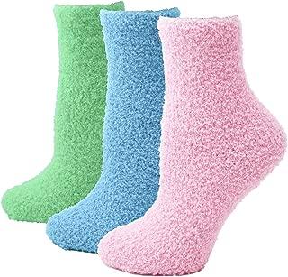 Women's Soft Warm Cozy Fuzzy Socks 3 Pairs Within Gift Box