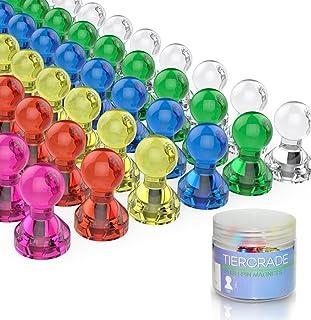 comprar comparacion Tiergrade Imanes del refrigerador, 60 Paquetes Imanes del 7 Color clasificado, Imanes en el hogar, la Escuela y Oficina pa...
