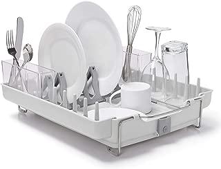 OXO Good Grips Convertible Foldaway Dish Rack, Stainless Steel (Renewed)