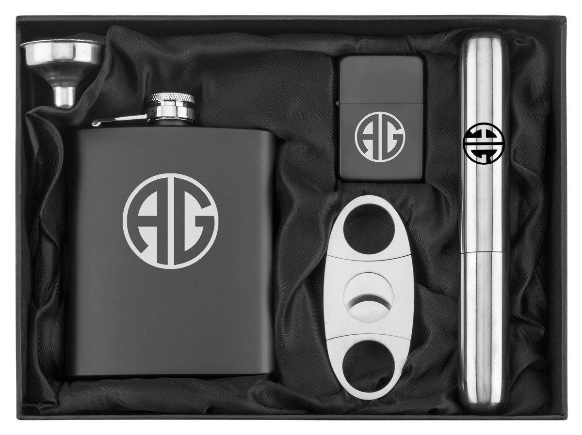 Monogram Engraved Lighter Stainless Personalized